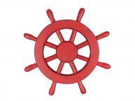 Red Decorative Ship Wheel 12