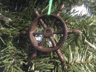 Cast Iron Ship Wheel Decorative Christmas Ornament 4  picture