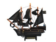 Wooden Black Barts Royal Fortune Model Pirate Ship 7