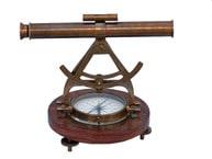 Antique Brass Alidade Compass 14