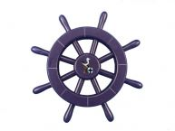 Dark Blue Decorative Ship Wheel With Seagull 12