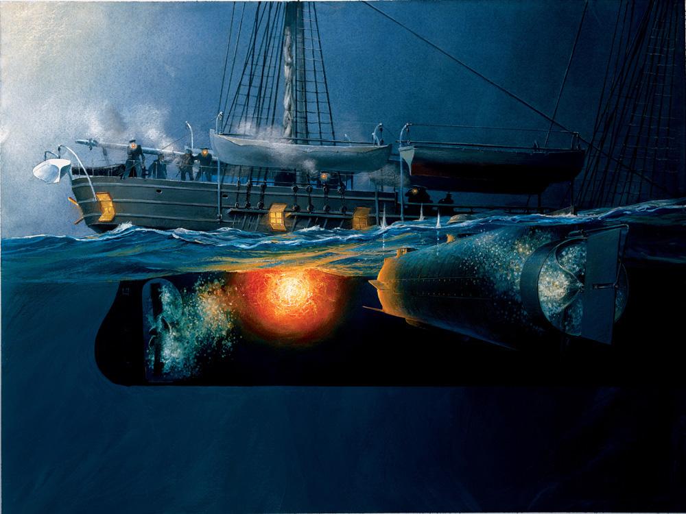 уничтожить подводные лодки