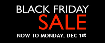 Black Friday Sale through Dec 1st
