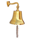 "Brass Hanging Ship's Bell 11"" is fully assembled"