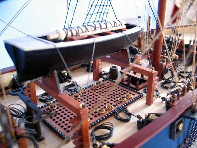 replica pirate ship is fully assembled