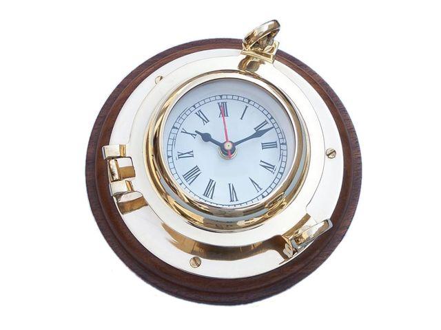 Brass Porthole Clock 7