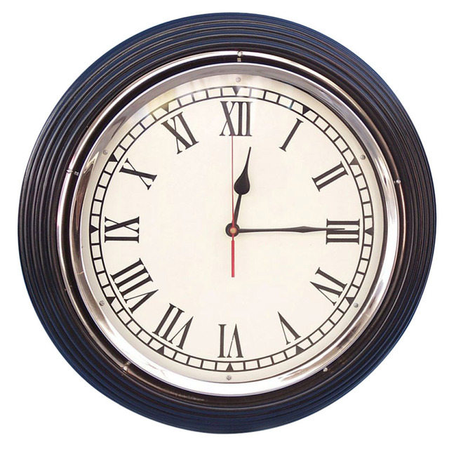Black-Chrome Wall Clock 17