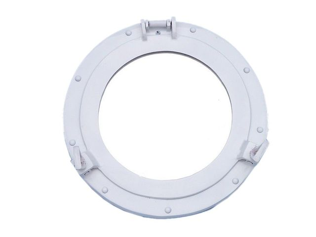 Brass Decorative Ship Porthole Mirror 12 - White