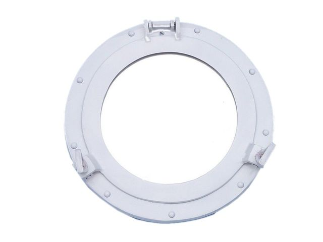 Brass Decorative Ship Porthole Mirror 15 - White