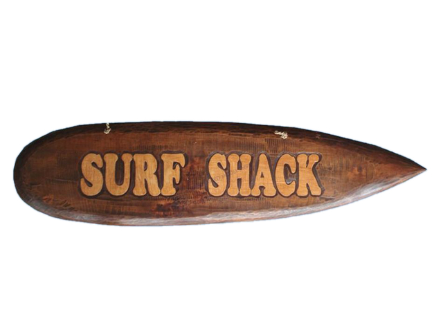 Wooden Surf Board Surf Shack Wall Plaque 39
