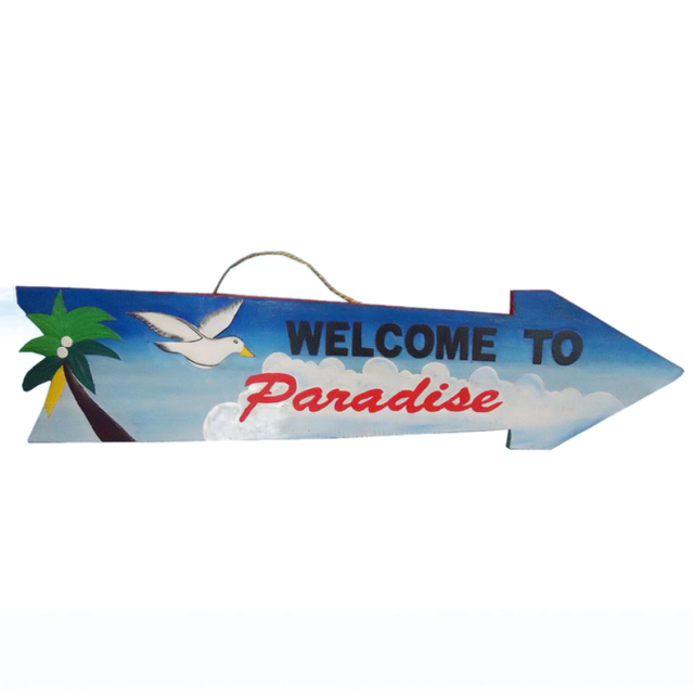 Welcome to Paradise Arrow Sign 39