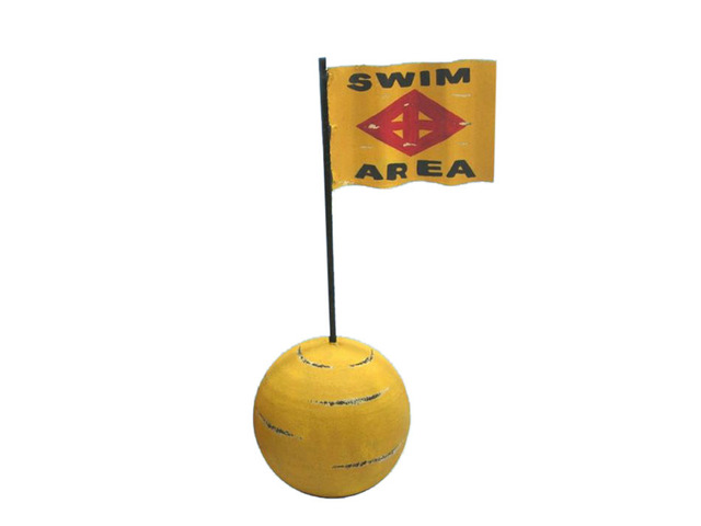 Wooden Swim Area Signal Buoy 16