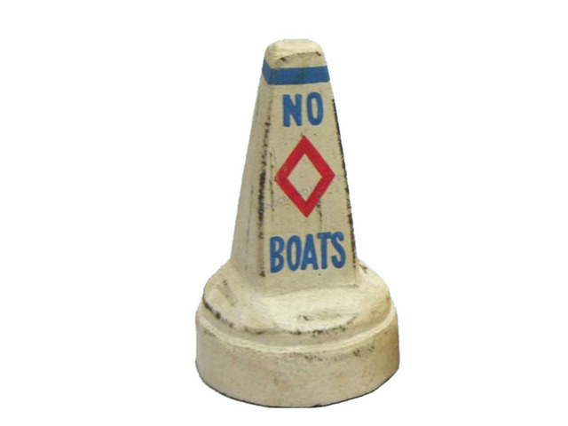 Wooden White Buoy Floater 4