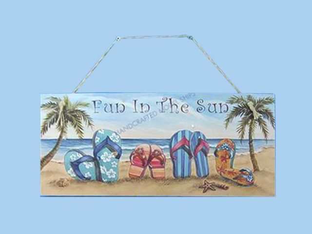 Wooden Fun in the Sun Nautical Wall Plaque 16