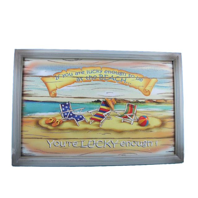 Wooden Youre Lucky Enough Wall Plaque 24