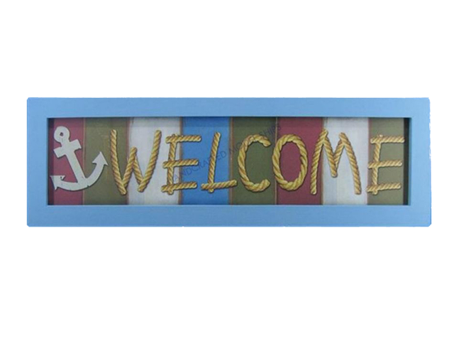 Wooden Welcome Nautical Plaque 24
