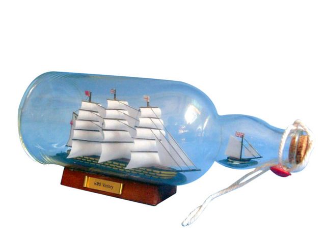 HMS Victory Model Ship in a Glass Bottle 11