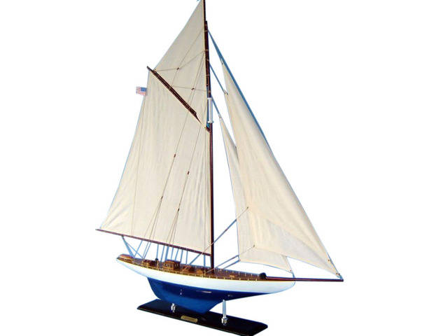 Wooden Defender Limited Model Sailboat Decoration 35