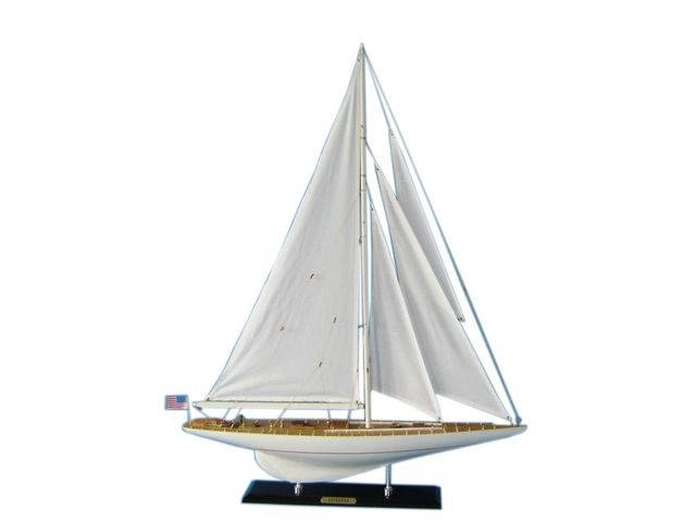 Wooden Intrepid Limited Model Sailboat Decoration 35