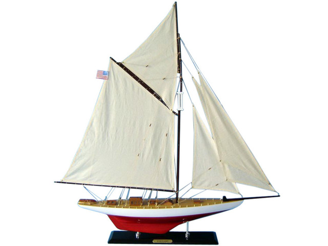 Wooden Vigilant Limited Model Sailboat Decoration35