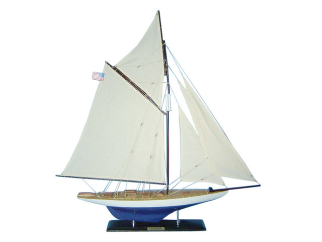 Wooden Defender Limited Model Sailboat Decoration 45