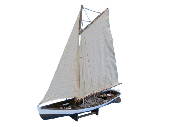 Wooden Big Game Fishing Model Boat 28