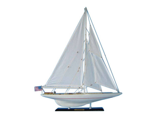 Wooden Intrepid Limited Model Sailboat Decoration 27