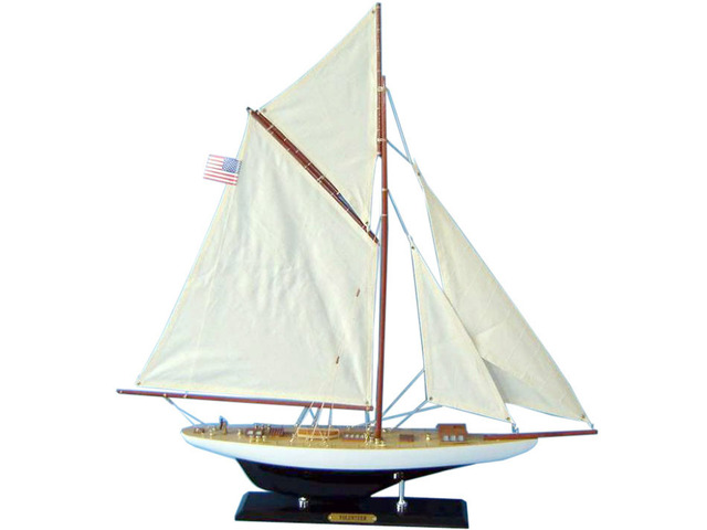 Wooden Volunteer Limited Model Sailboat Decoration 25