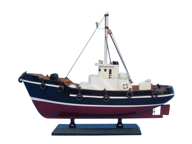 Wooden Drift Wood Model Fishing Boat 14