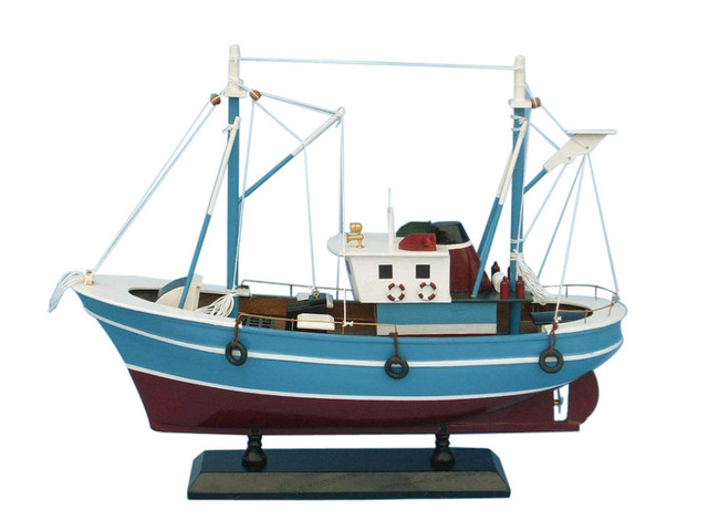 Wooden Fish Finder Model Boat 14