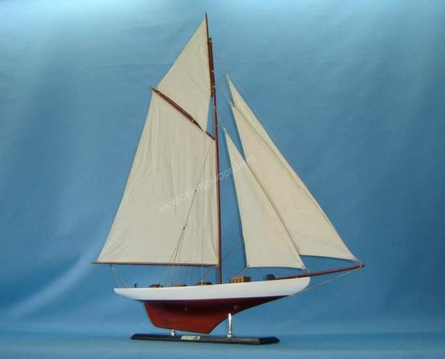 Columbia 42 Model Sailboat Ship Home Nautical Decor Ebay