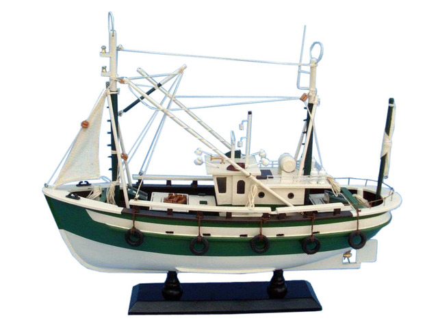 Wooden Finally Fishing Model Boat 18