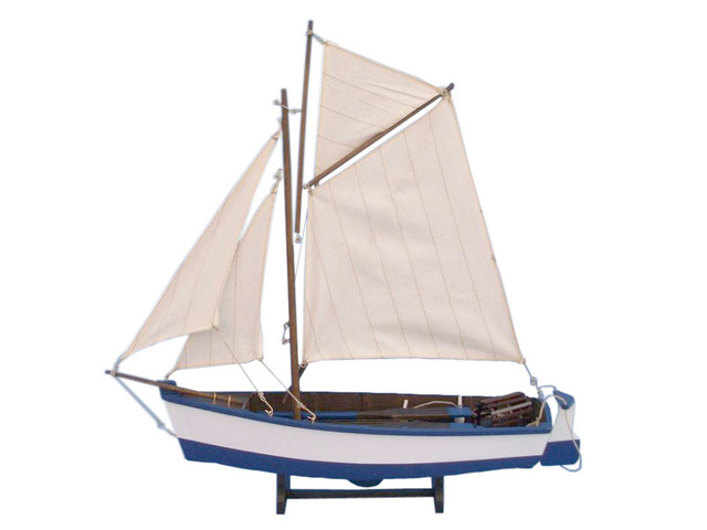 Wooden Yarmouth Cutter Model Boat 17