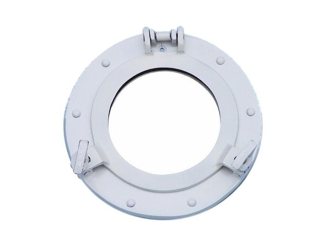 Brass Decorative Ship Porthole Mirror 8 - White