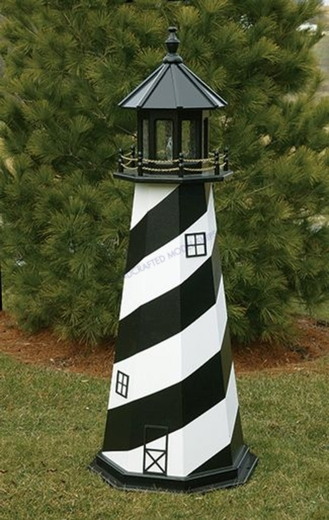 Cape Hatteras Electric Painted Wooden Lighthouse 72