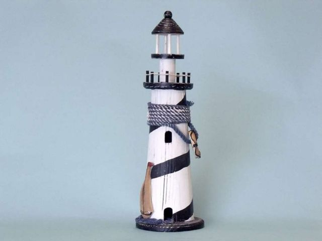 Wooden Sailboat Lighthouse 16