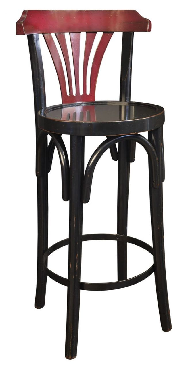 Navy Bar Stool De Luxe 40