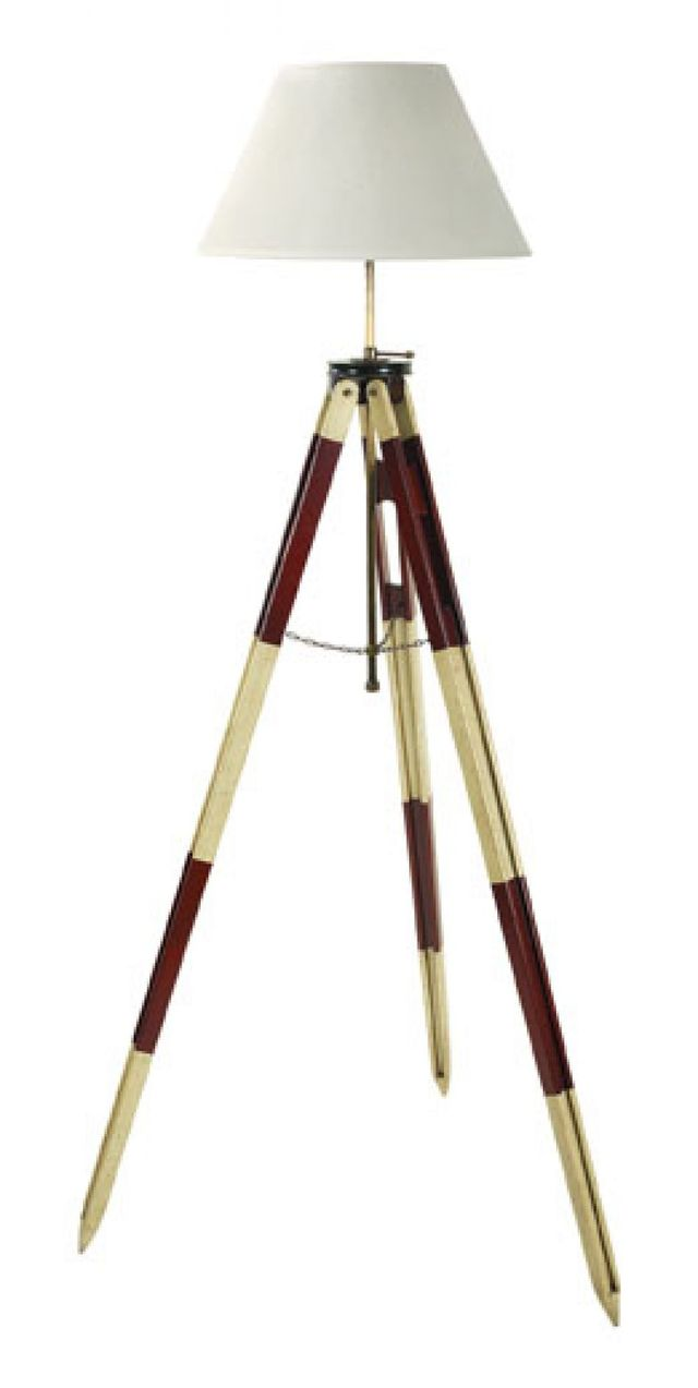 Red Surveyors Tripod Lamp 50