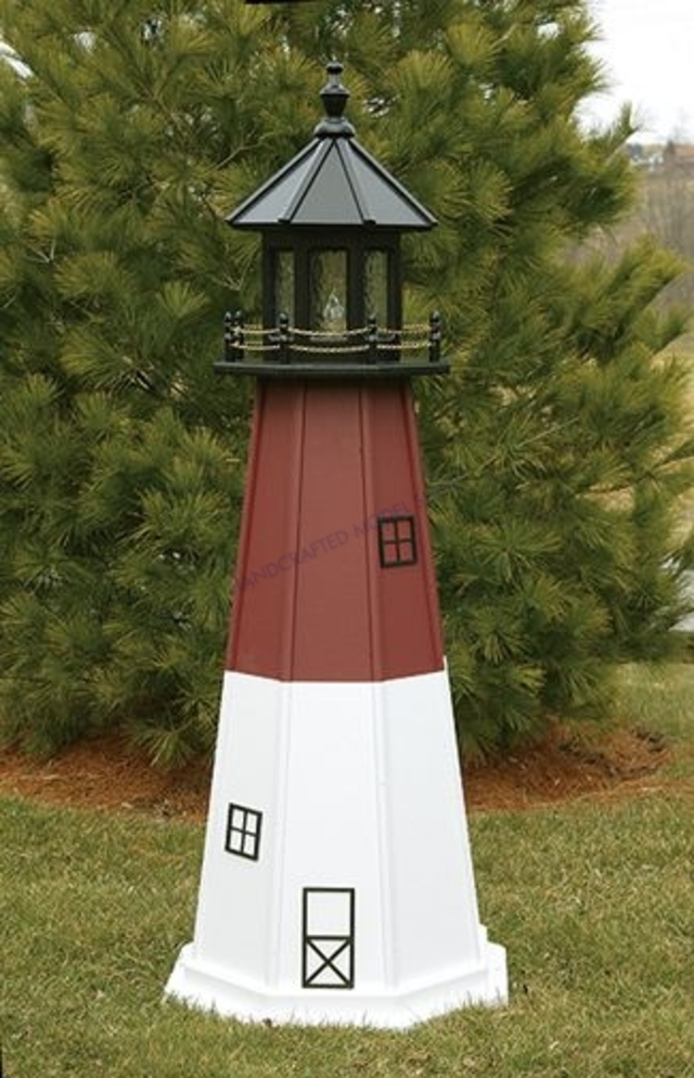 Barnegat Electric Painted Wooden Lighthouse  48