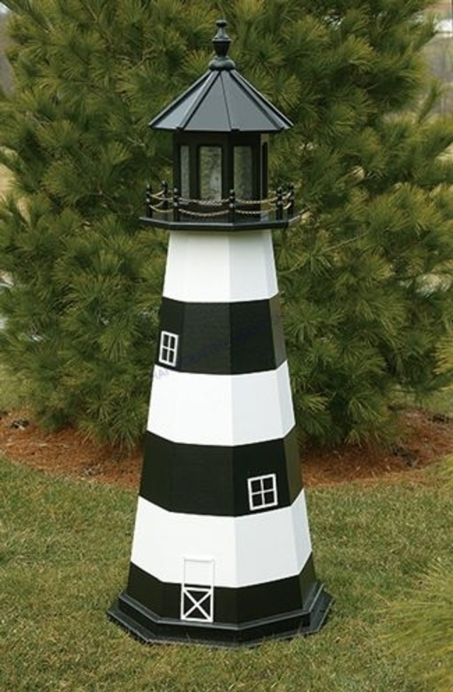 Cape Canaveral Electric Painted Wooden Lighthouse 72