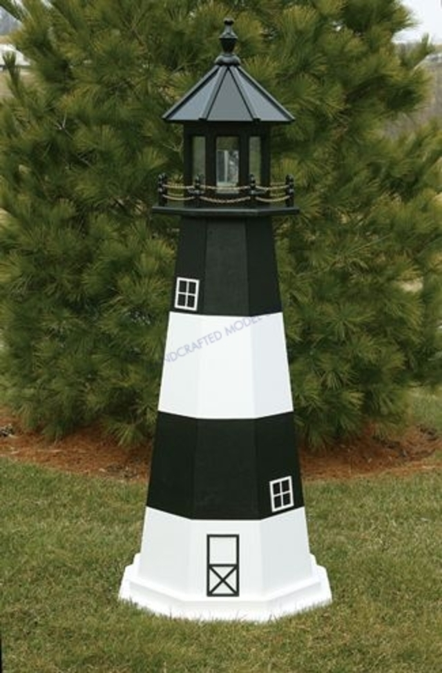 Fire Island Electric Painted Wooden Lighthouse 144