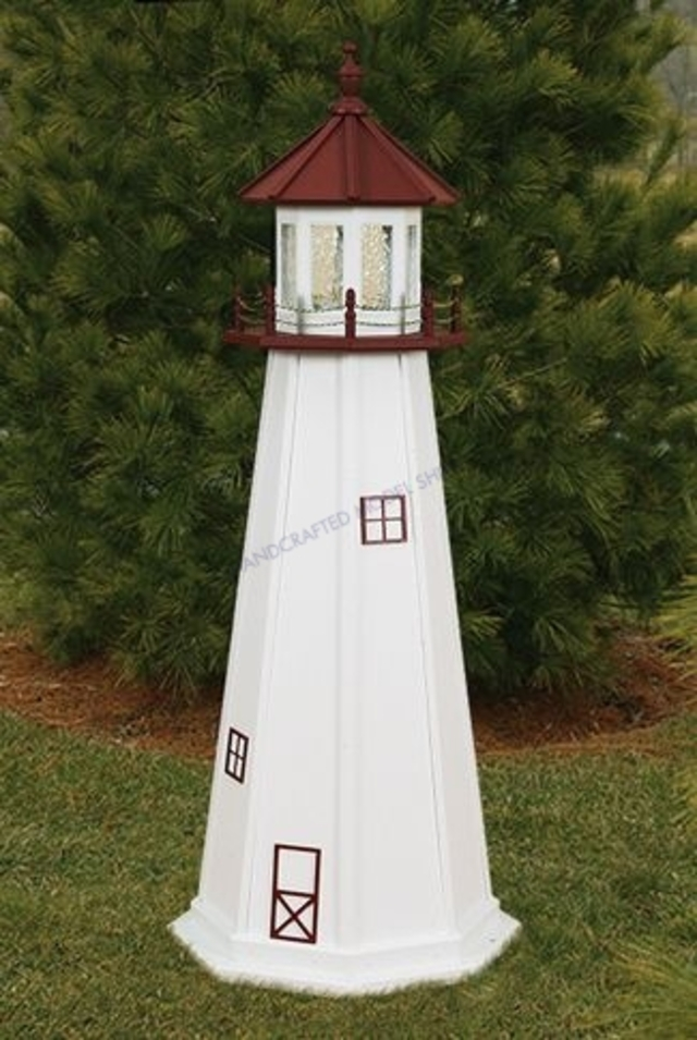 Marblehead  Electric Painted Wooden Lighthouse 96