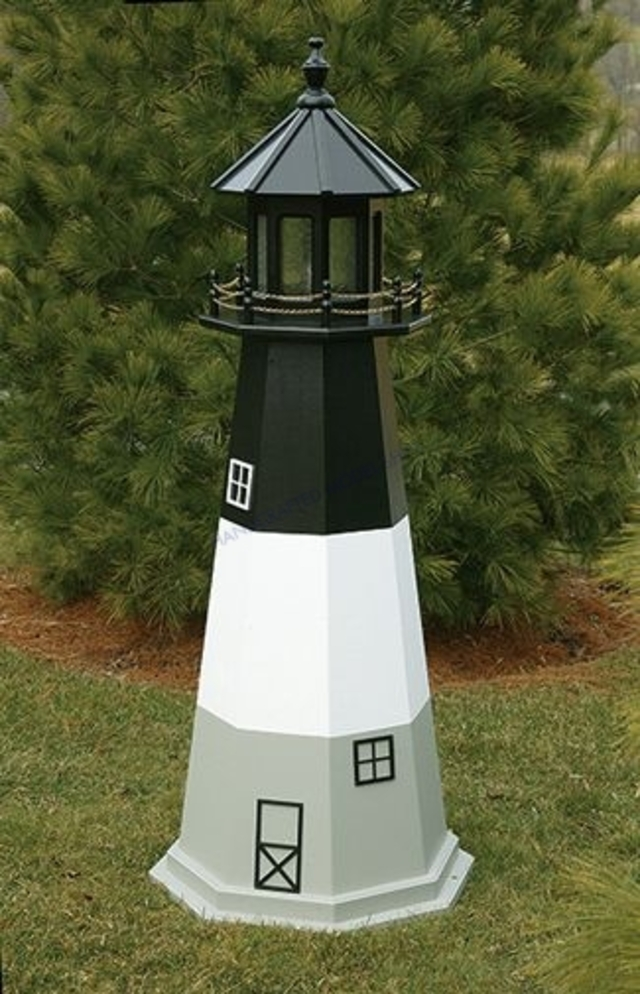 Oak Island Electric Painted Wooden Lighthouse 72