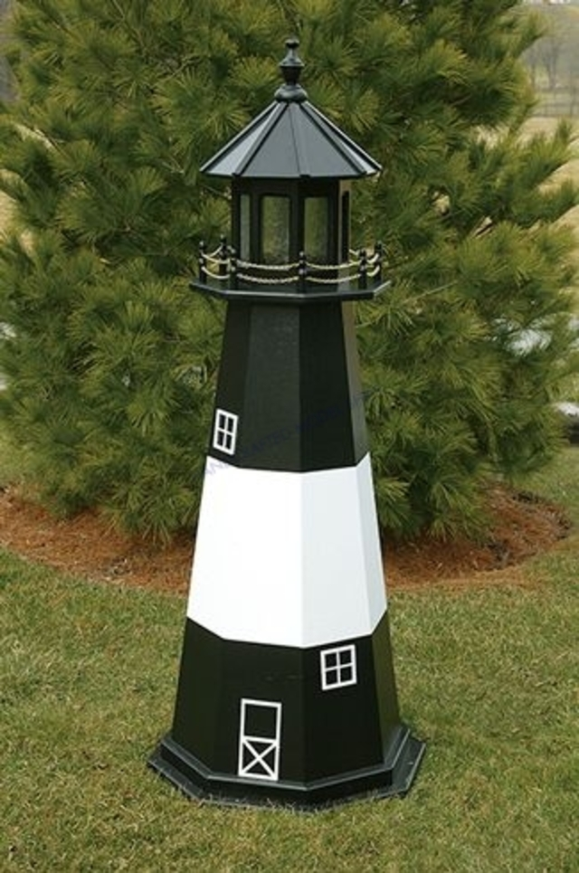 Tybee Island Electric Painted Wooden Lighthouse 96