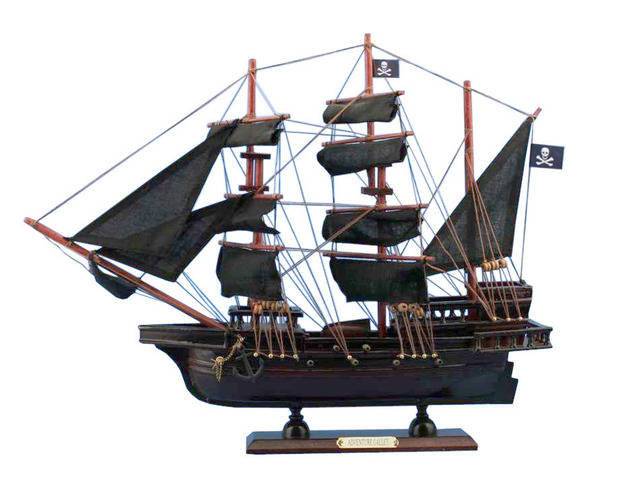 Wooden Captain Kiddandapos;s Adventure Galley Model Pirate Ship 20