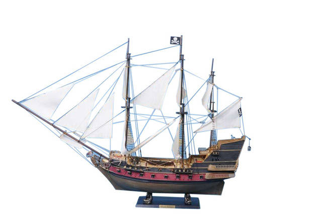Captain Kidds Adventure Galley Limited Model Pirate Ship 36 - White Sails