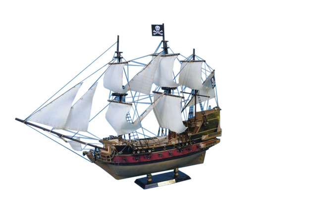 Captain Kidds Adventure Galley Limited Model Pirate Ship 24 - White Sails