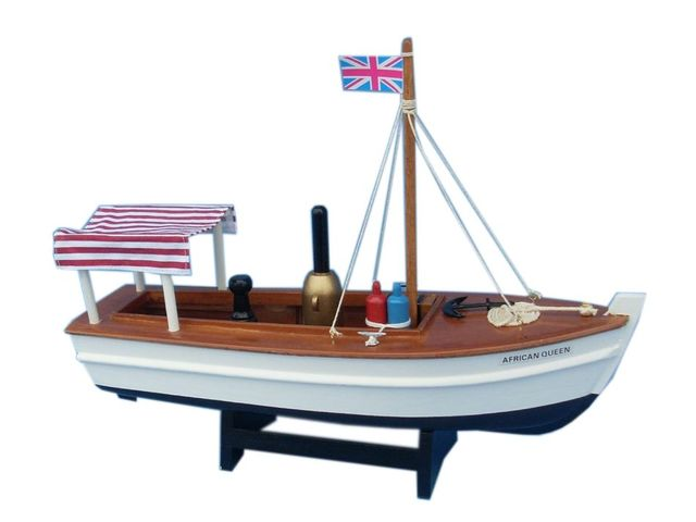 Wooden African Queen Model Boat 14