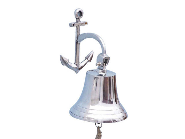 Chrome Hanging Anchor Bell 12
