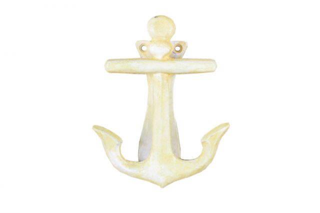 Buy Antique White Cast Iron Decorative Anchor Door Knocker